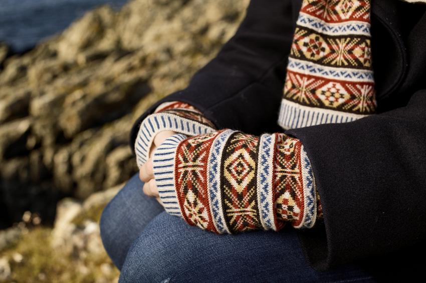 BAKKA Knitwear Fairisle Armwarmers