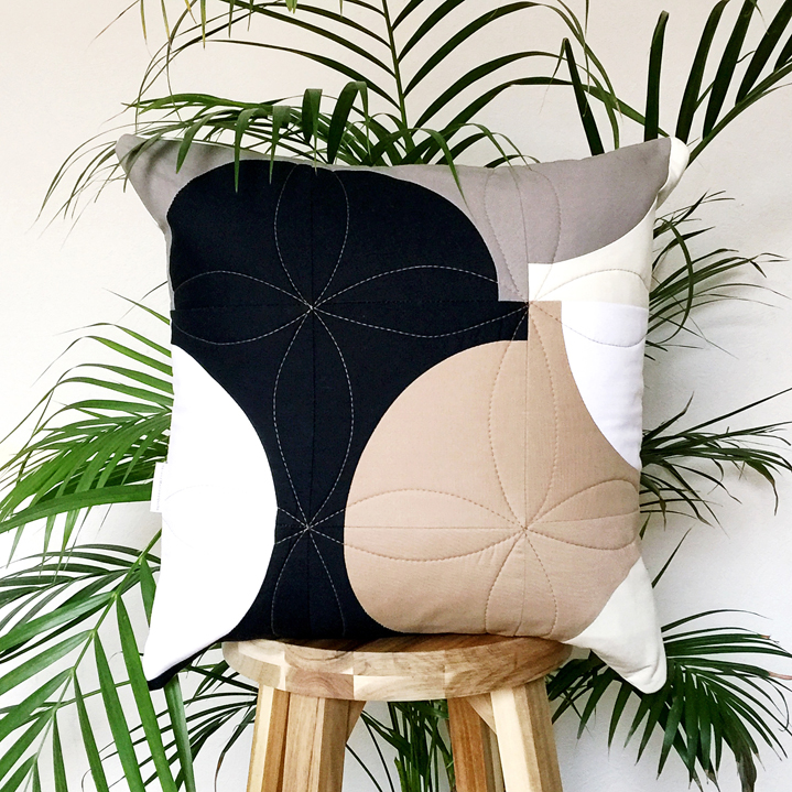 Lucy Engels One More Cup of Coffee Cushion on stool