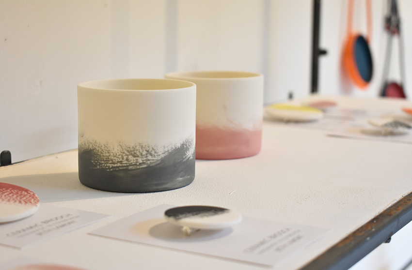 Beth Lamont ceramics display at the Summer Show 2018