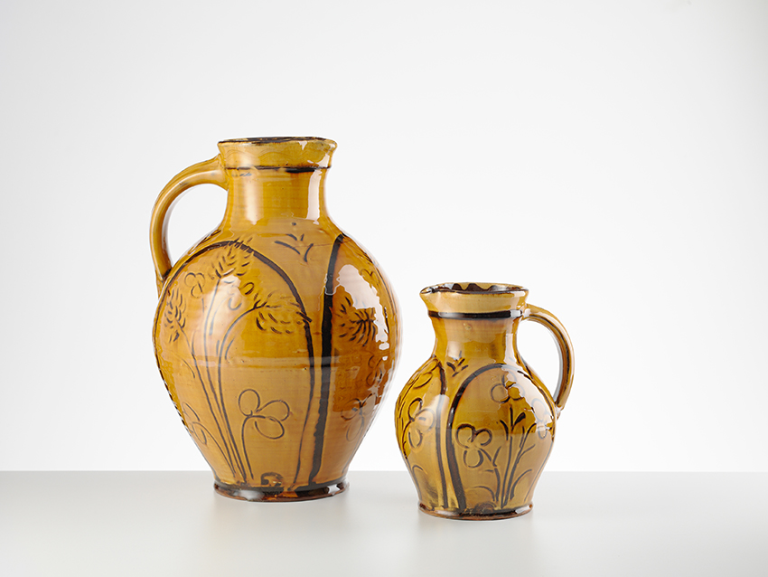 Two Sgraffito Harvest Jugs