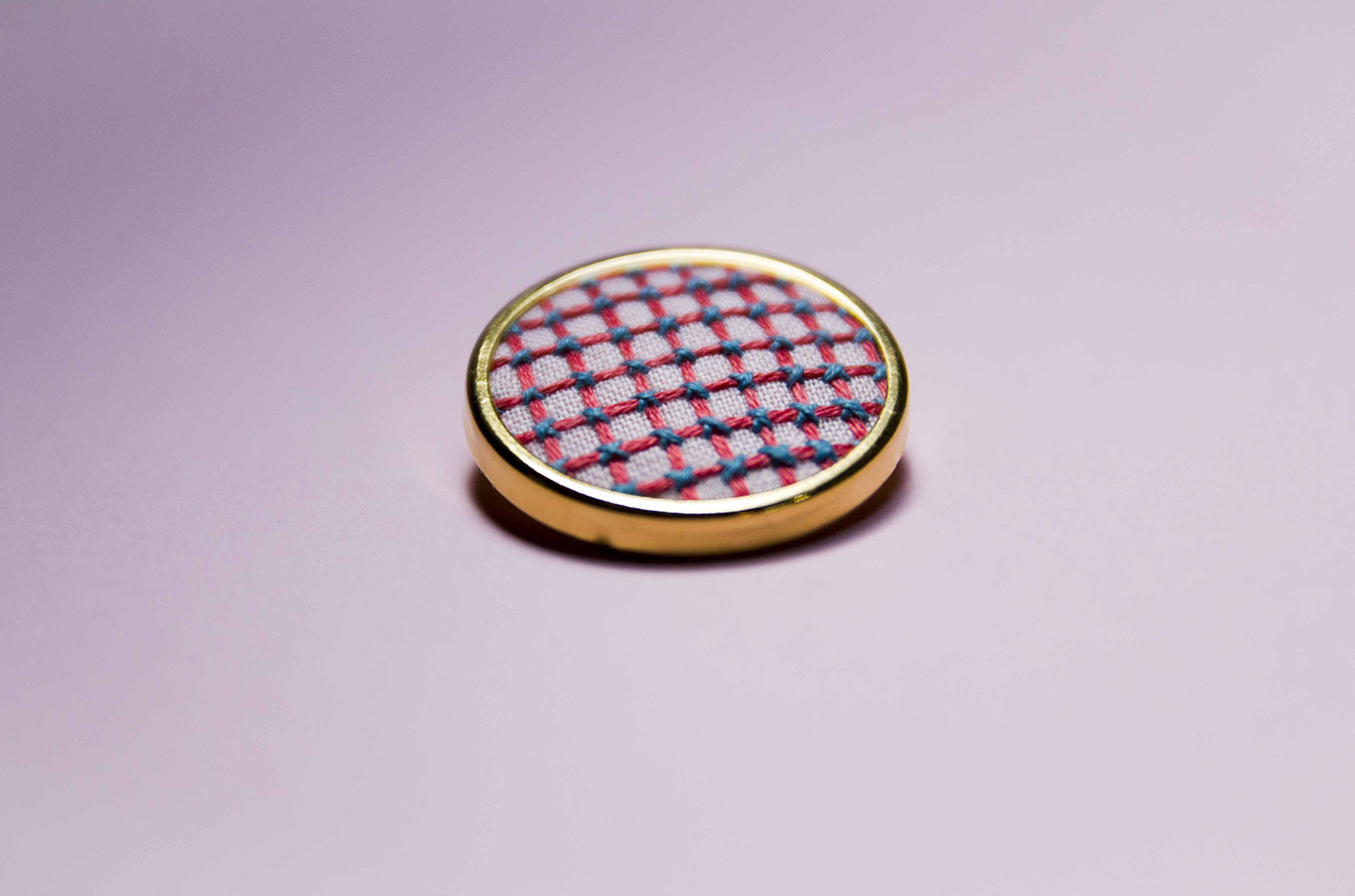 Pink Criss-Cross Pin