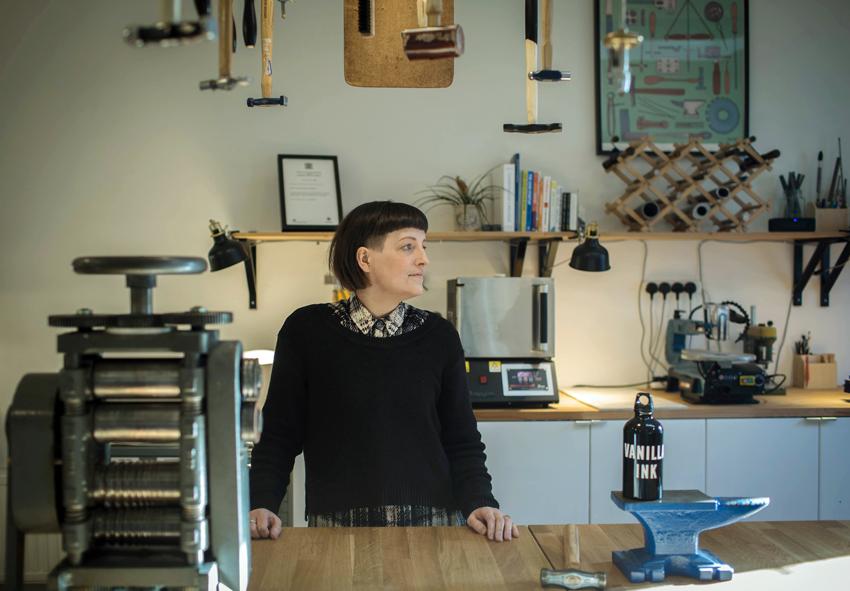 Kate Pickering, Director of Vanilla Ink in the Vanilla Ink studio