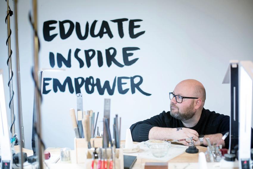 Scott McIntyre, Director of Vanilla Ink in the Vanilla Ink studio