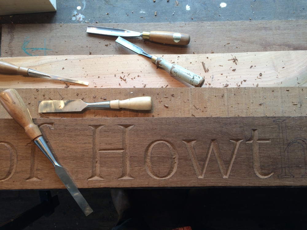 Letter Carving and Gilding