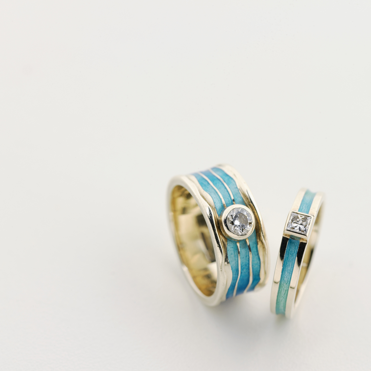 Turquoise, Enamel and Diamond Rings />               </div>               <div class=