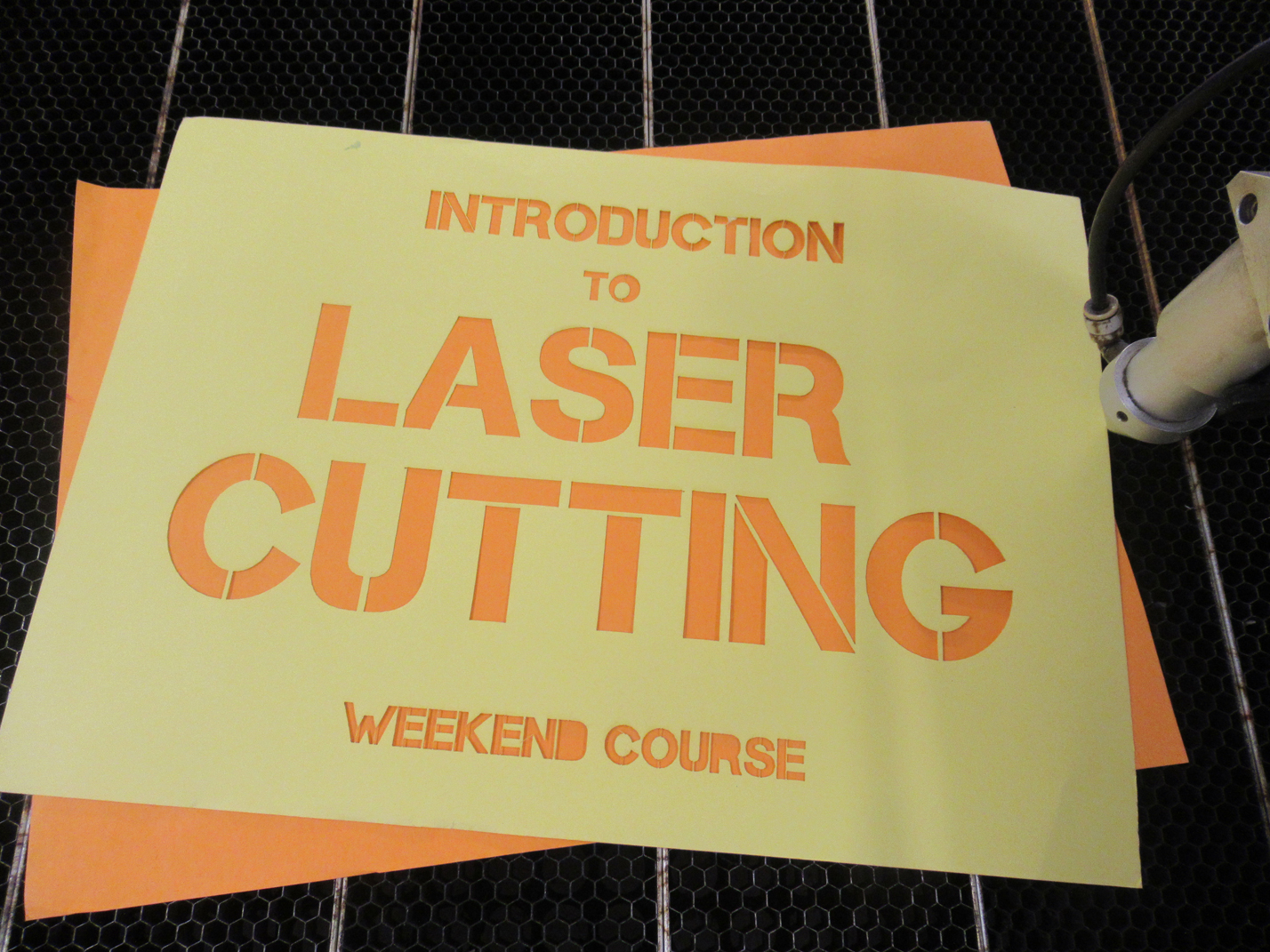 Introduction to Laser Cutting 27th & 28th October