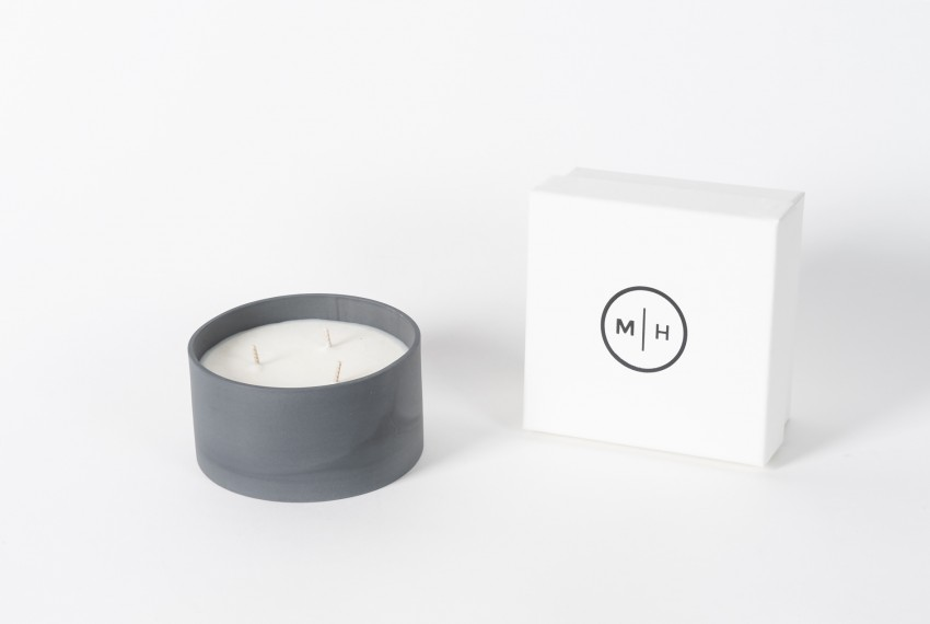 Myer Halliday Three Wick Candle in Jet