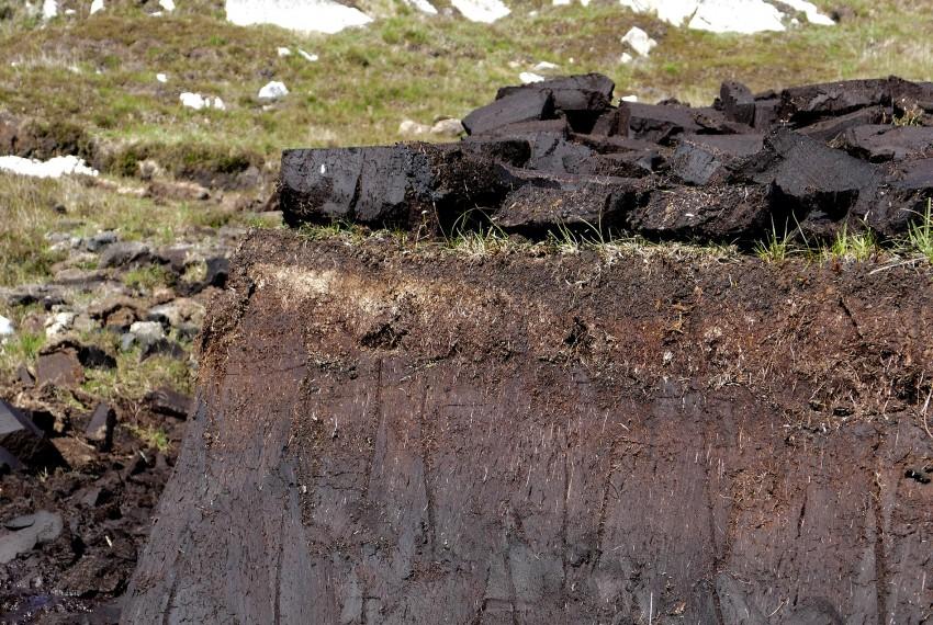 Hebridean peat bank