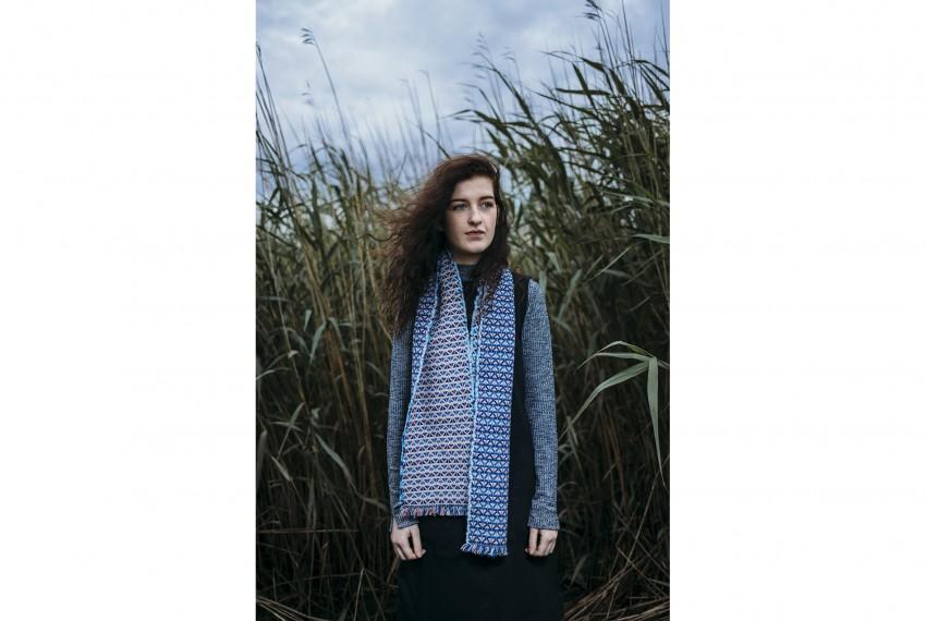 Heather Shields Neon Jazz Scarf on model