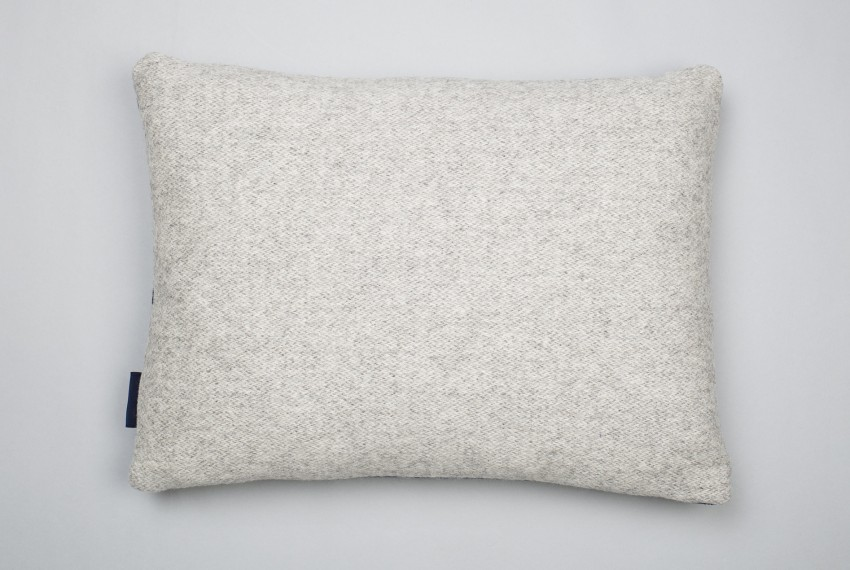 Heather Shields Mono Cushion Sea Reverse