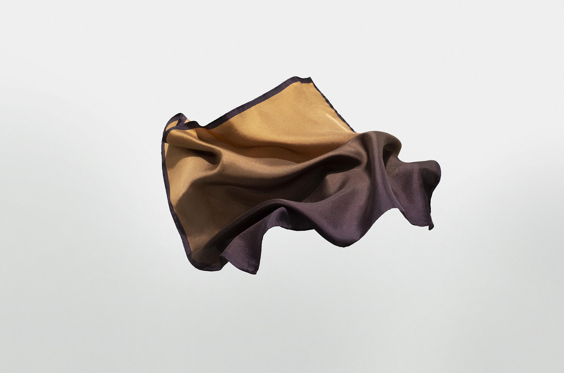 Peat Silk Neckerchief / Pocket Square