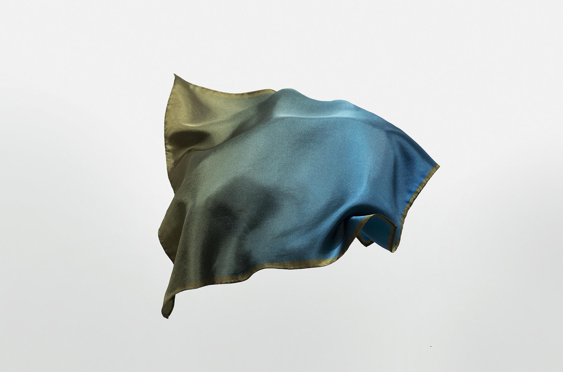 Moss Silk Neckerchief / Pocket Square