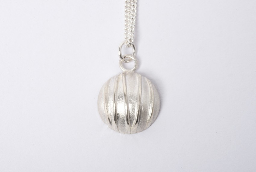 Tracy Wilson Sterling Silver Contrast Domed Pendant