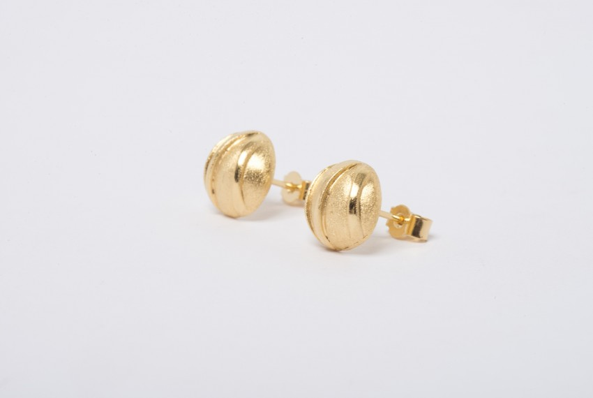 Tracy Wilson Gold Plated Sterling Silver Contrast Domed Studs