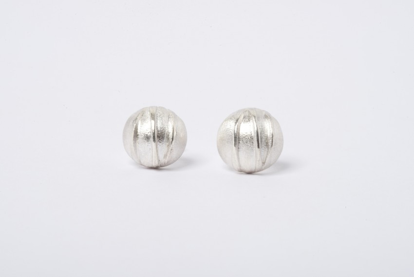 Tracy Wilson Sterling Silver Contrast Domed Studs