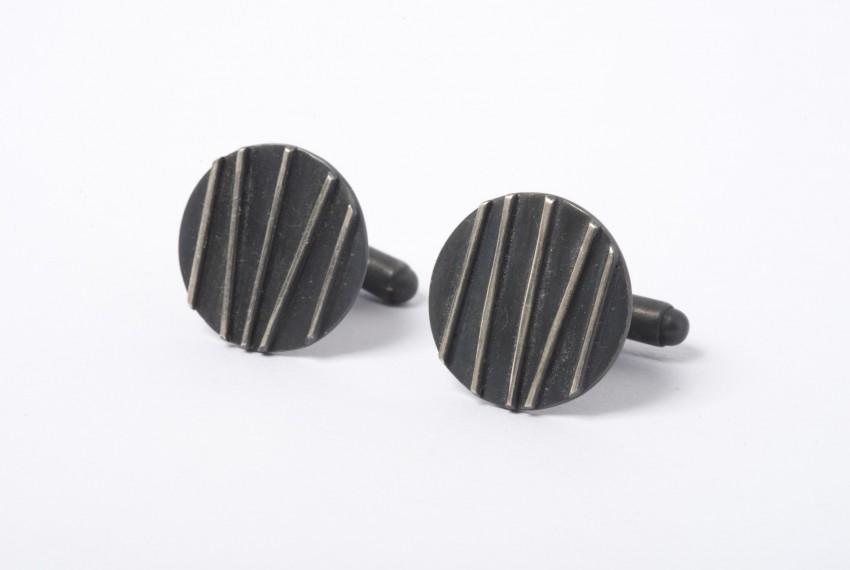 Tracy Wilson Oxidised Silver Contrast Cufflinks