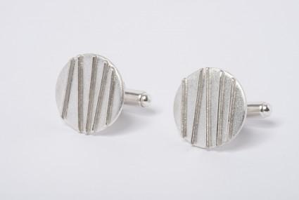 Tracy Wilson Sterling Silver Contrast Cufflinks