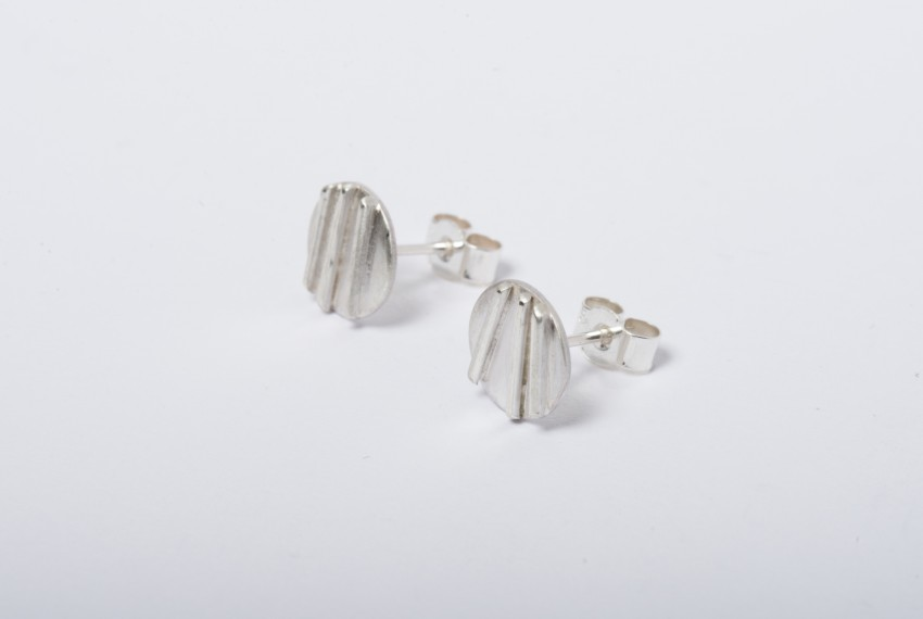 Tracy Wilson Sterling Silver Contrast Simple Studs