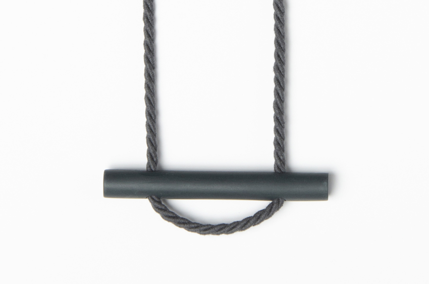 Beth Lamont Grey Bar Necklace