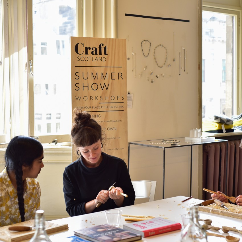 Apply to lead a workshop at the Craft Scotland Summer Show 2019