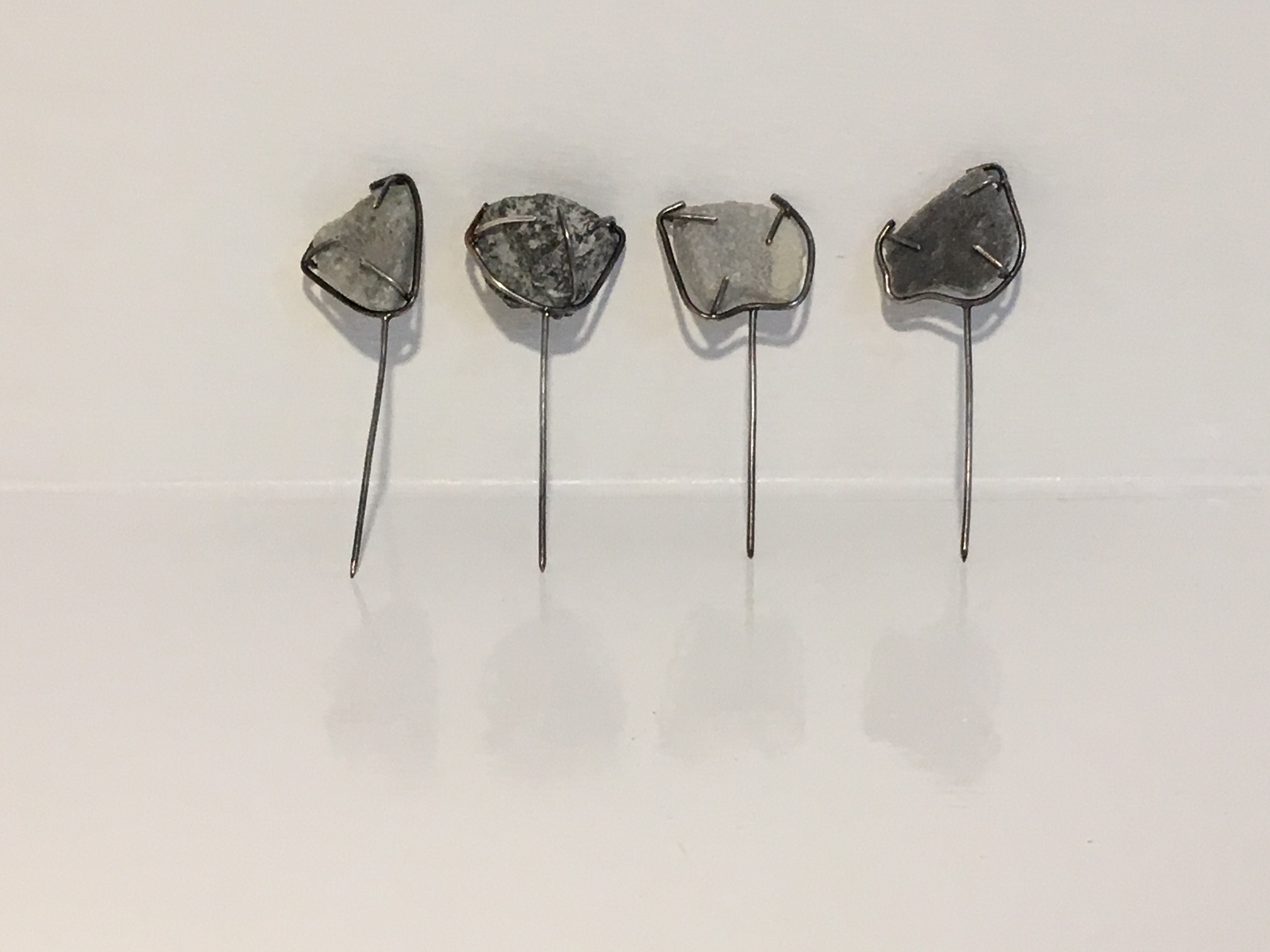 Geological Display Skye Marble Pins