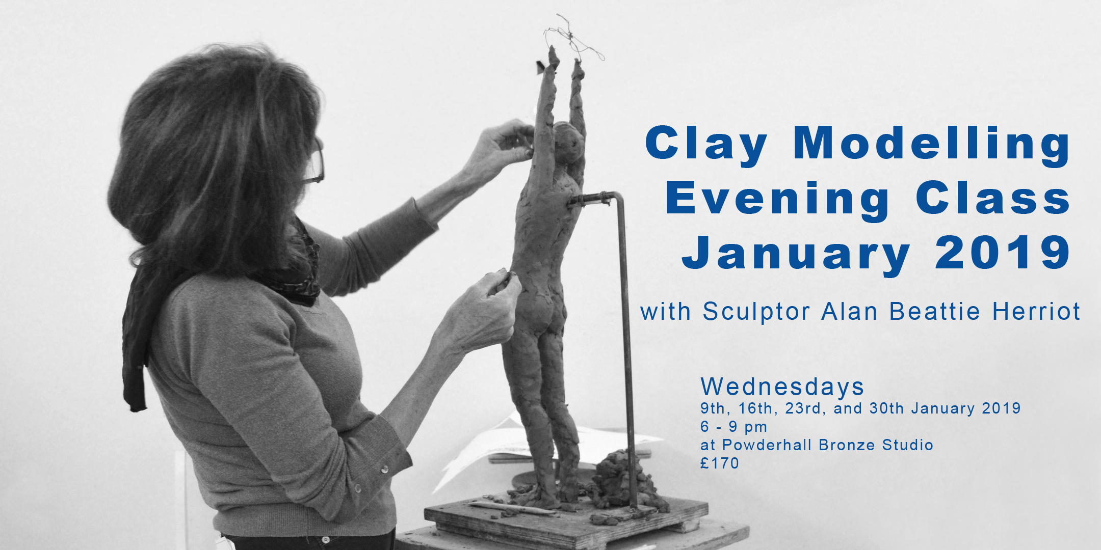 Clay Modelling Evening Class with Alan Beattie Herriot