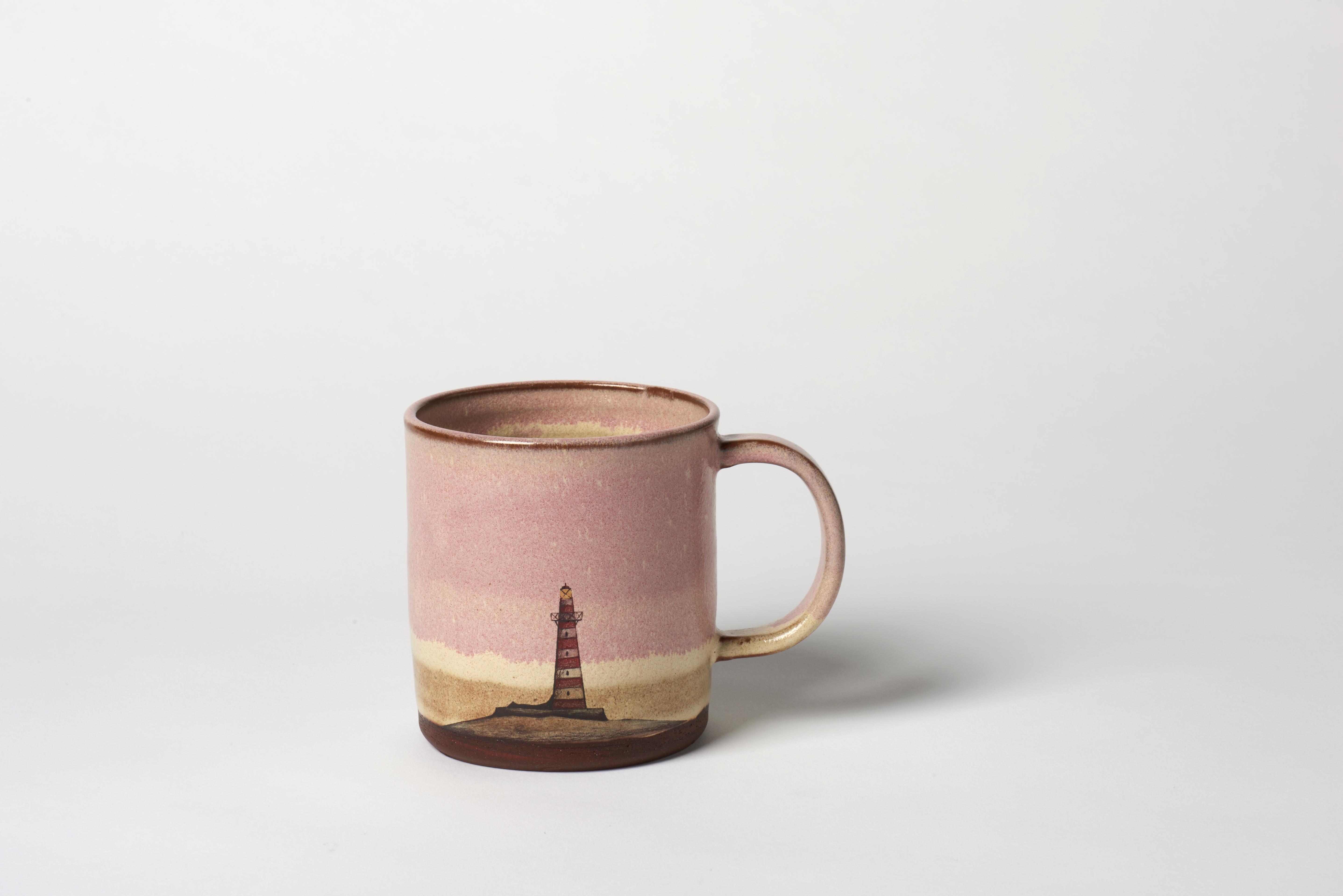 Pink Lighthouse Mug