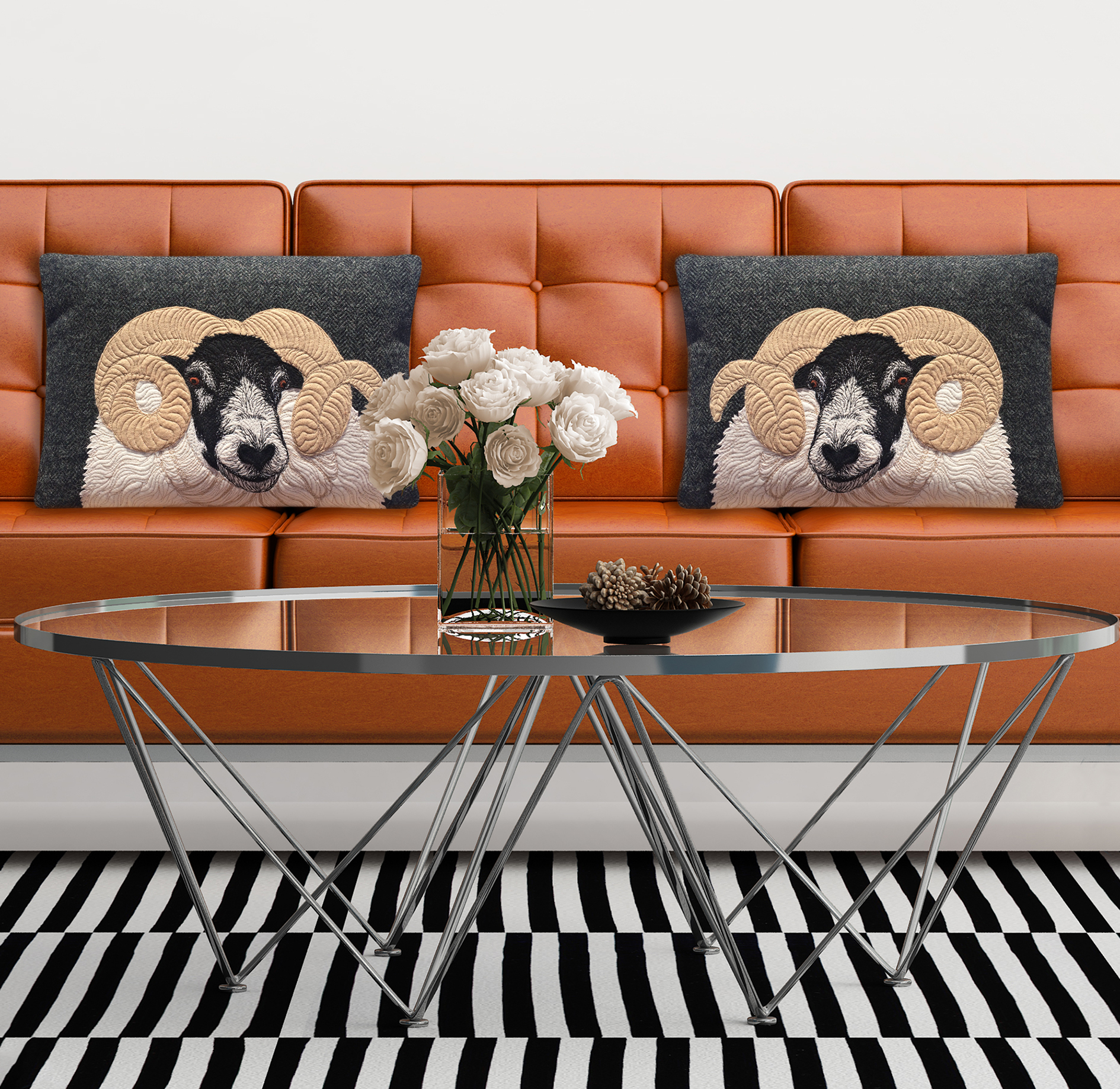Black faced sheep cushions