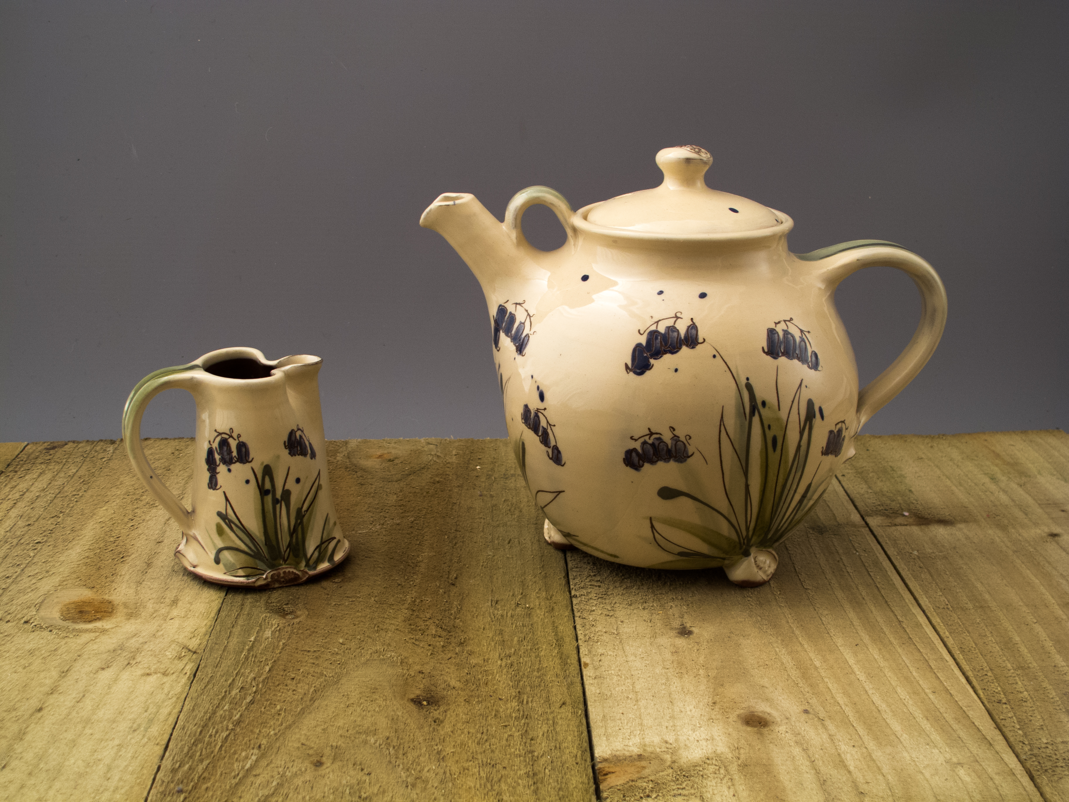 Bluebell Teapot and Jug set