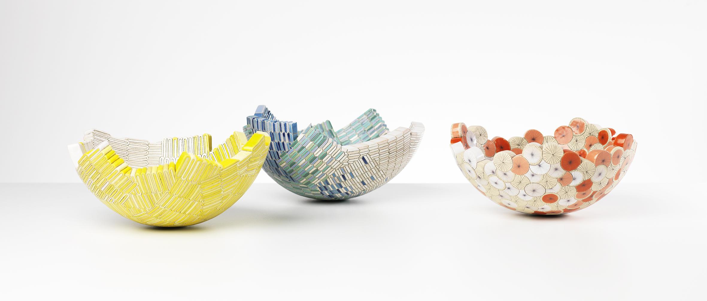 Lozenge, Tile & Rosette bowls