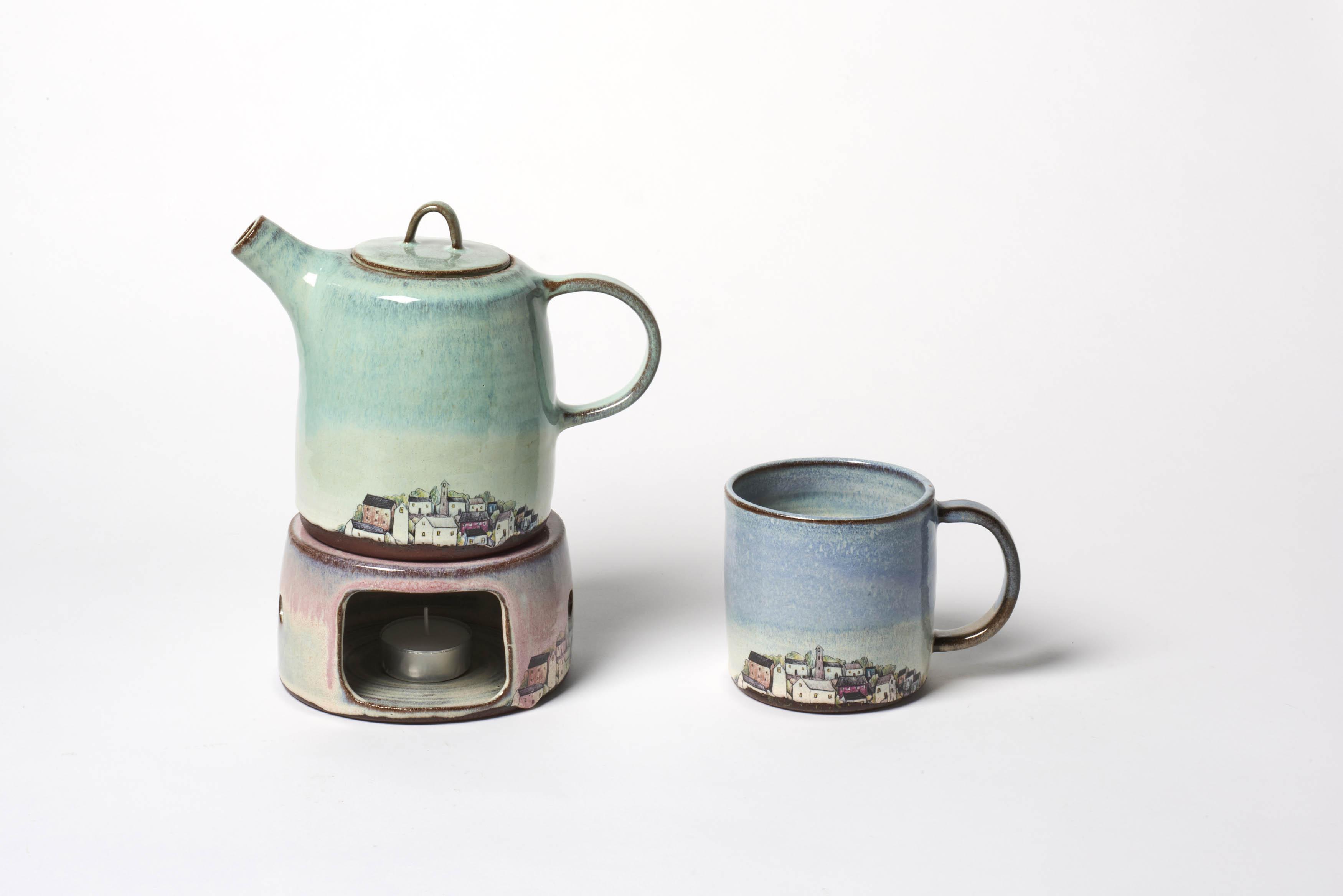 Village Tea Set with Warmer
