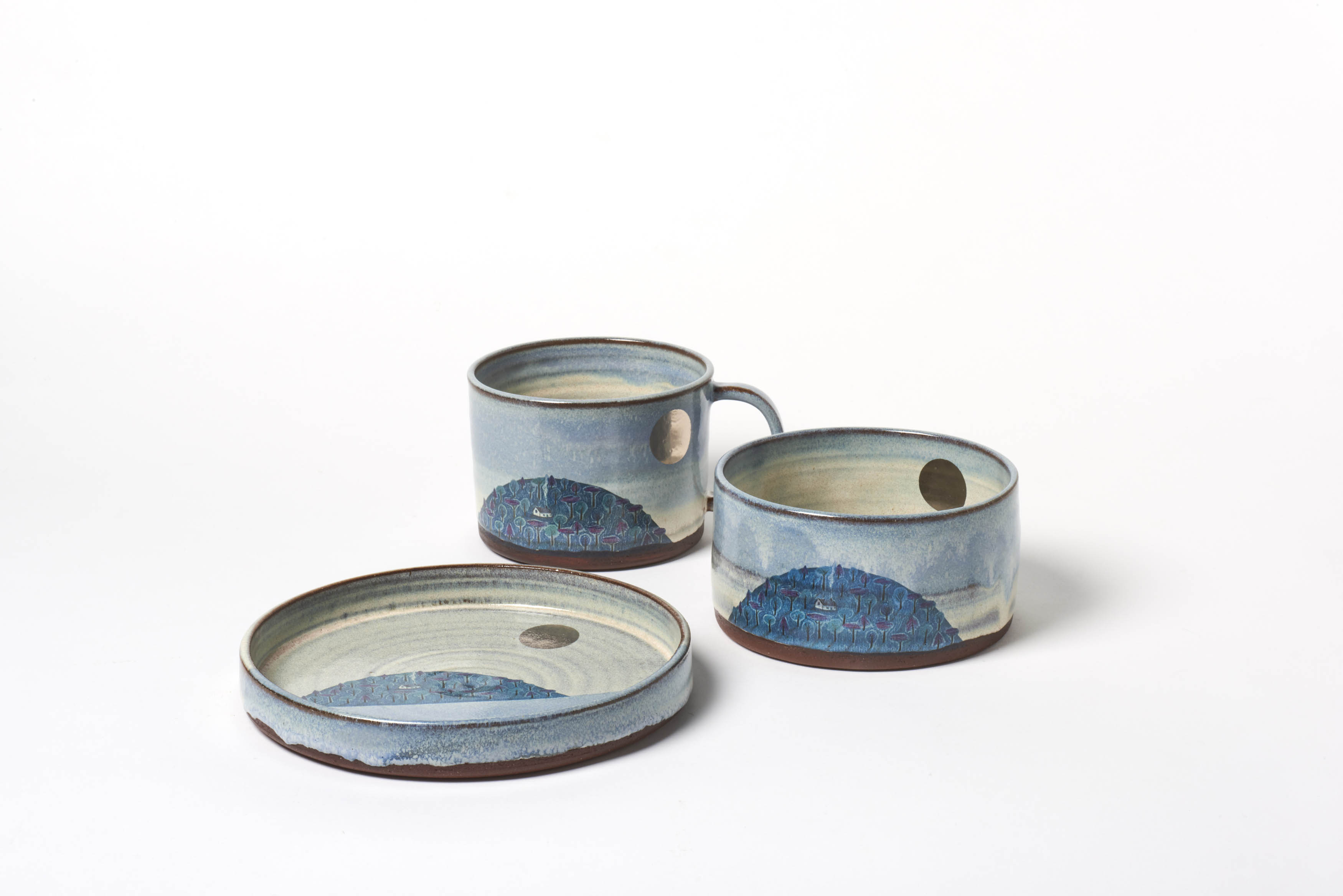 Blue Hill and Silver Moon Breakfast Set