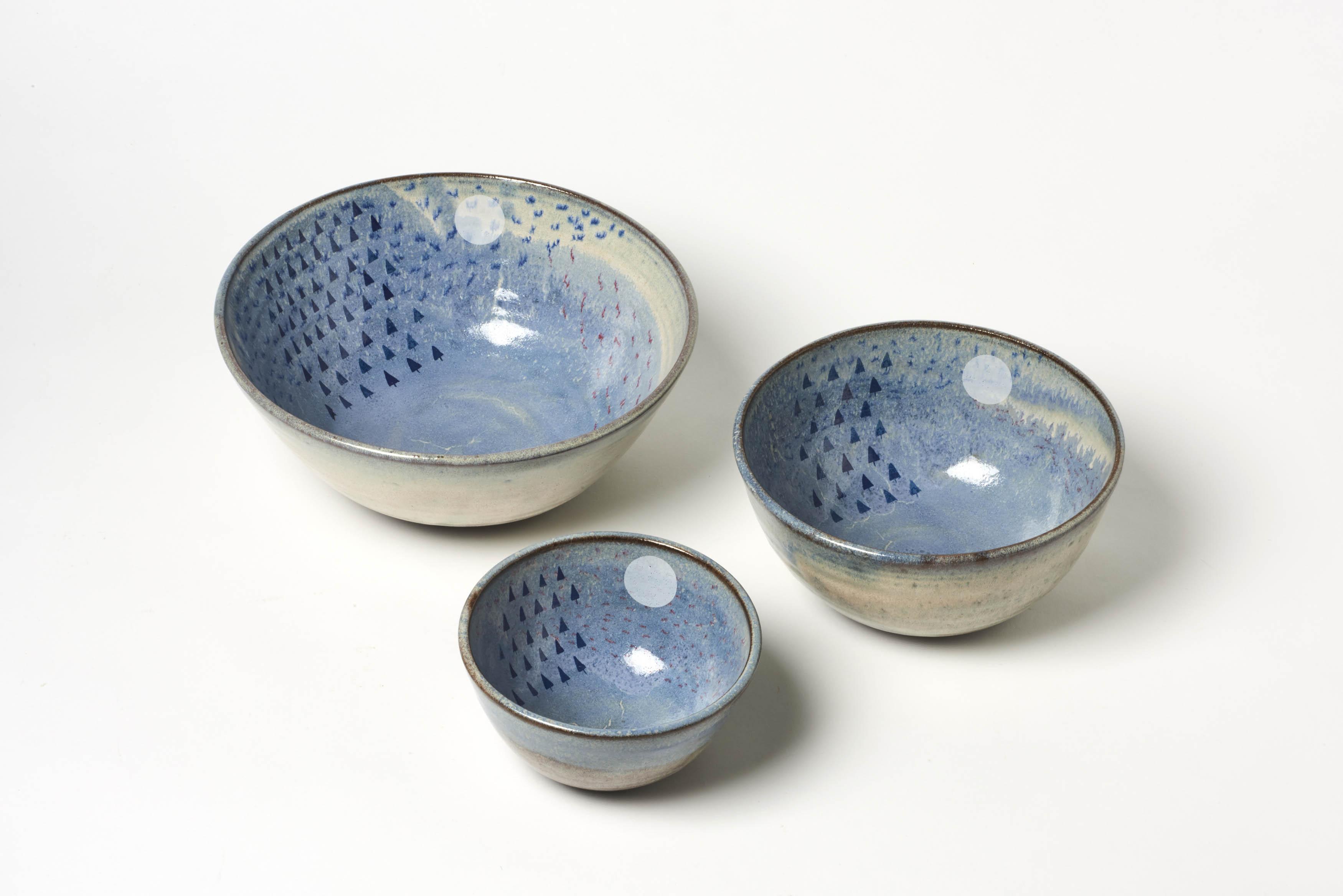 Blue Forest Nesting Bowls