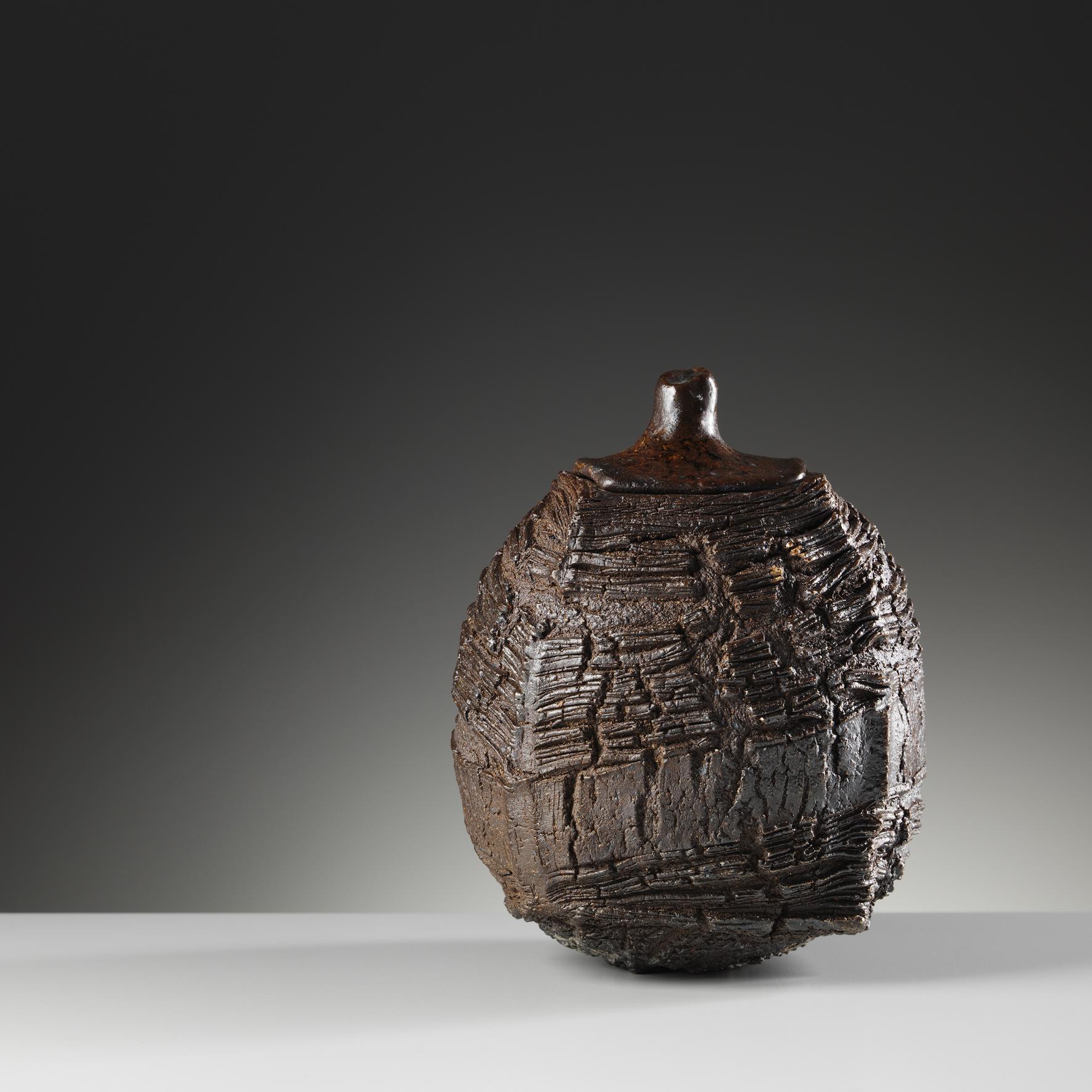 Lidded Erosion Jar