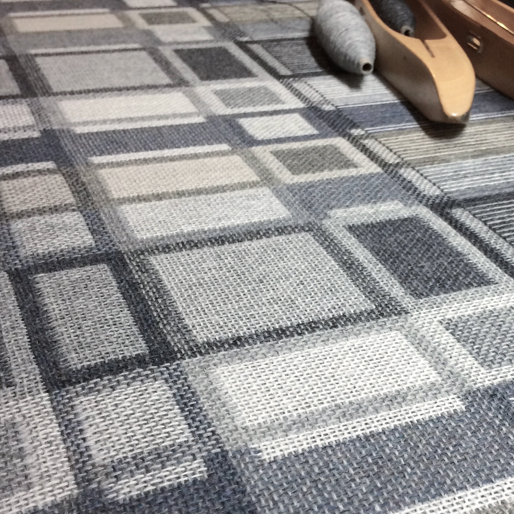 Neist fabric being woven, pebble