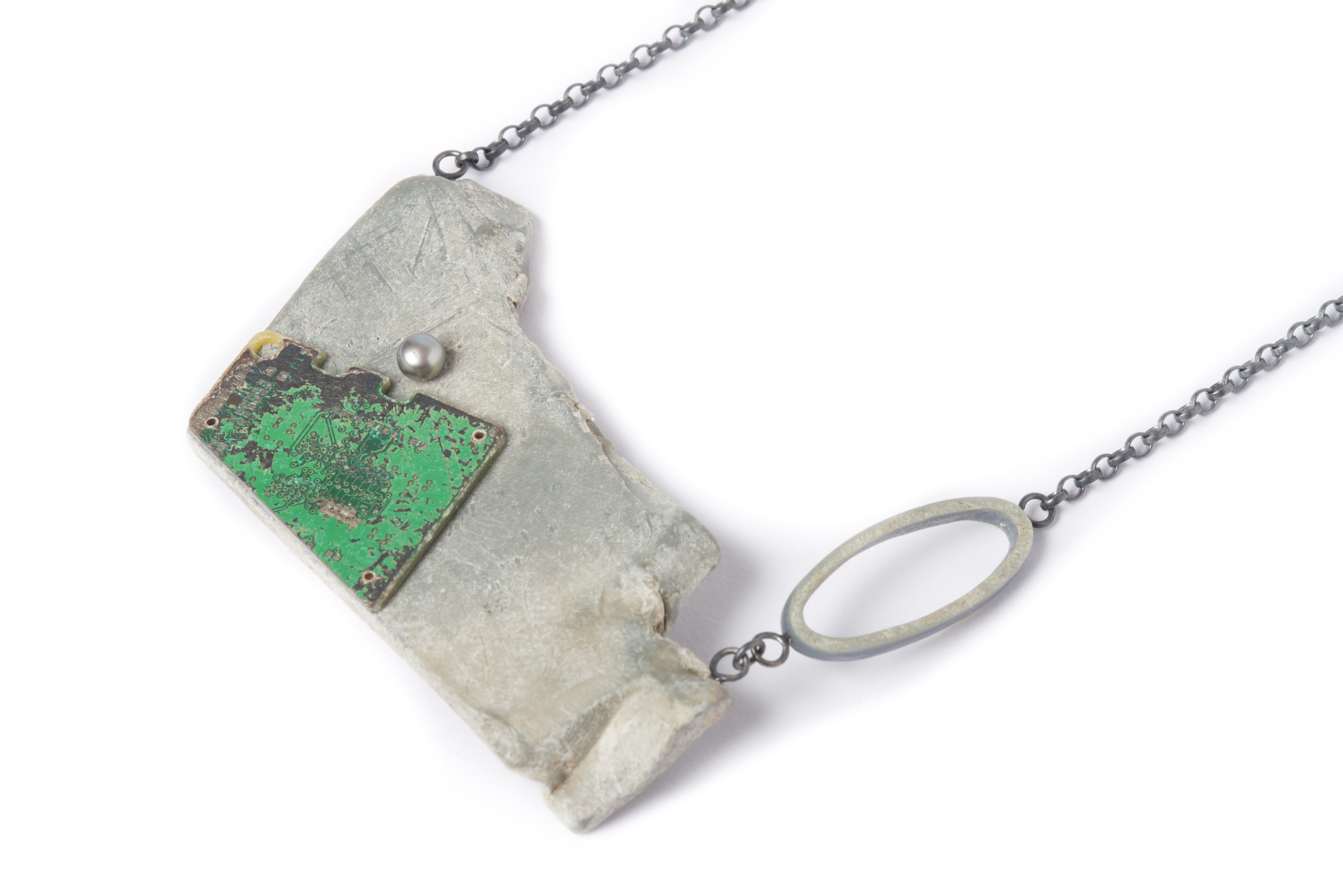 Green Circuit Necklace