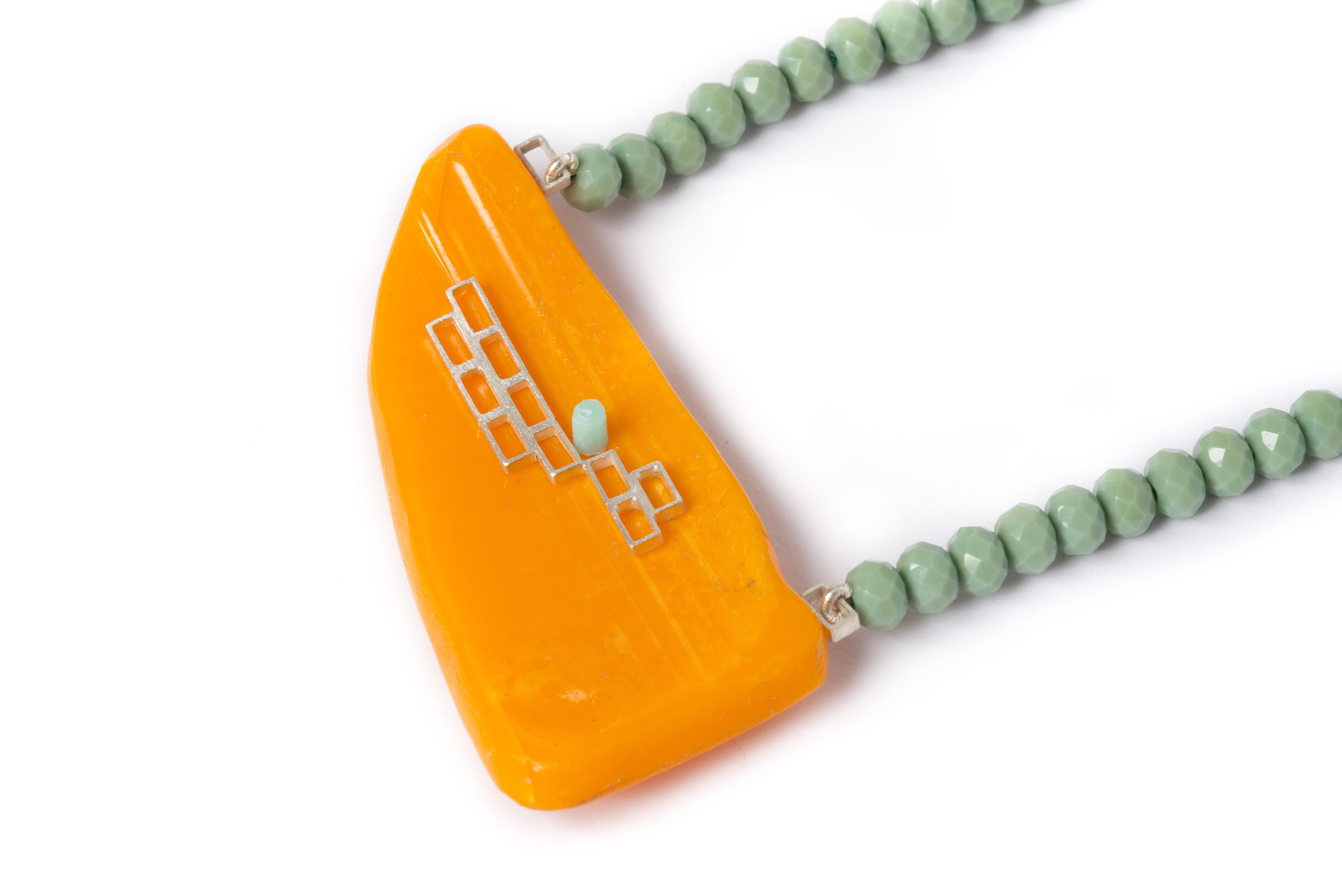 Orange Buoy Necklace