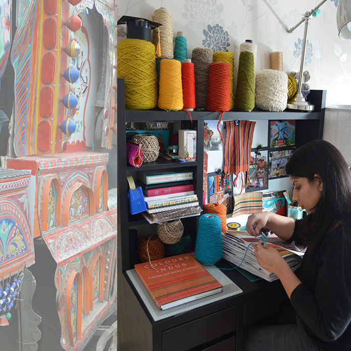 Woven textile designer Mariam Syed
