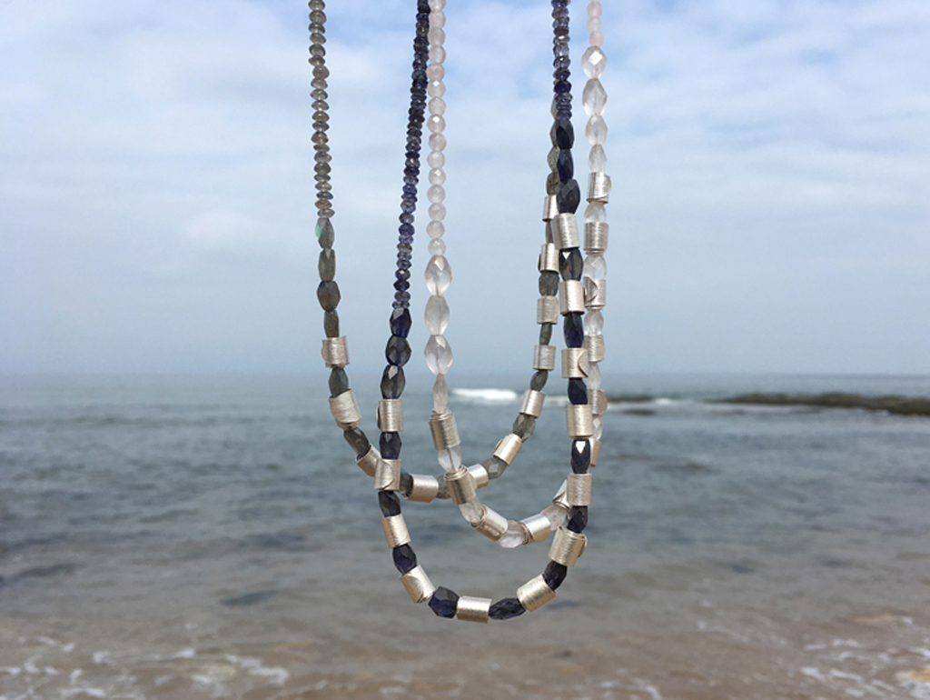 Rolled Wave Necklaces