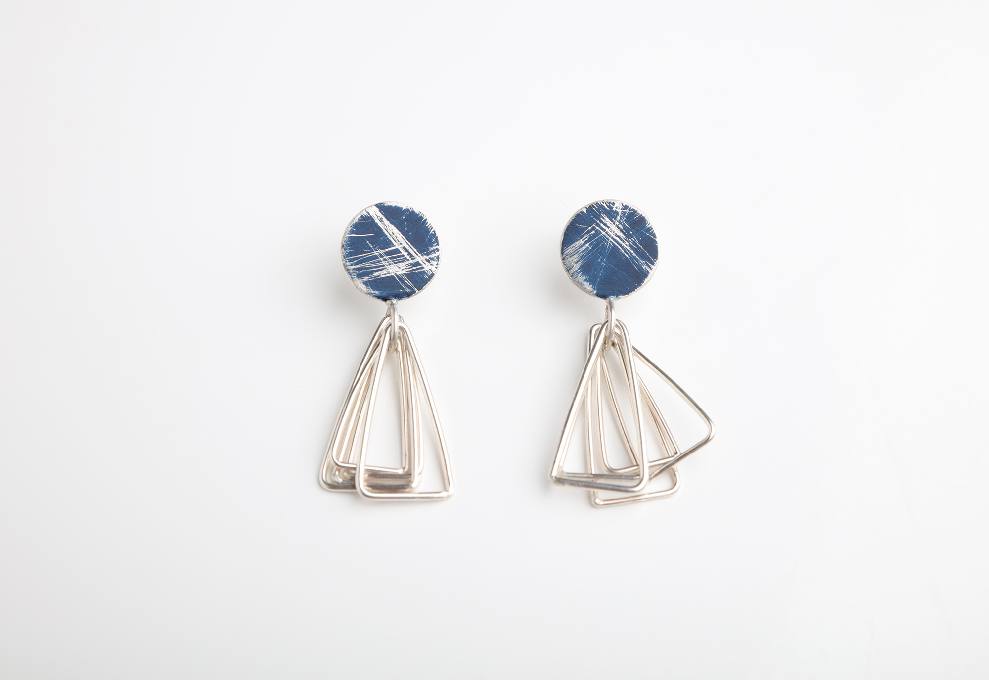 Colour Buoy Earrings with Triangles