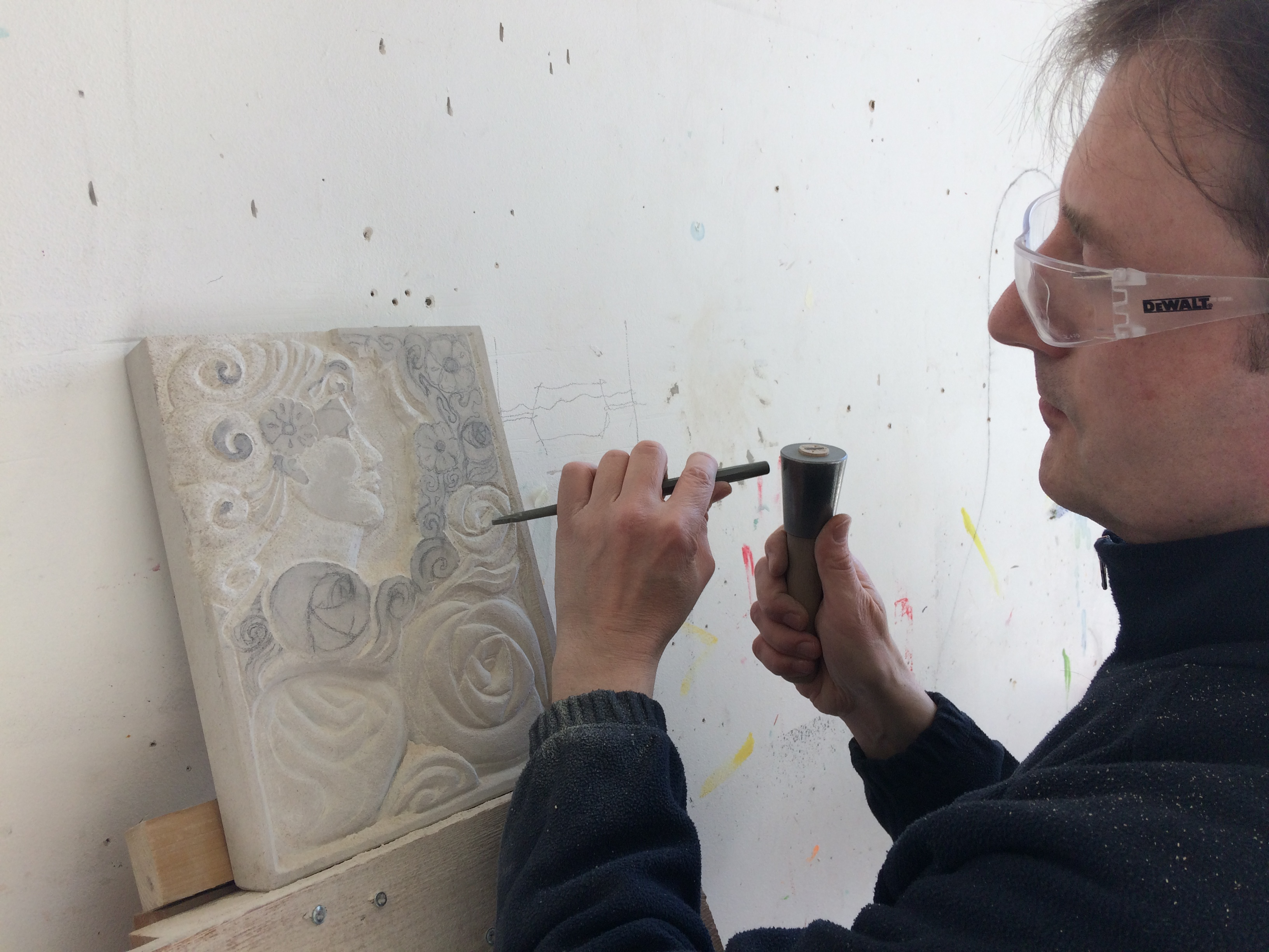 Five Week Stone Letter Carving and Relief Course