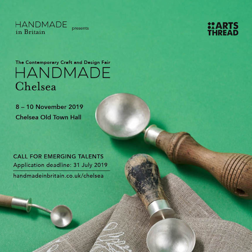 CALL FOR ENTRIES:ARTS THREAD EMERGING TALENTS AT HANDMADE CHELSEA 2019 Image #0