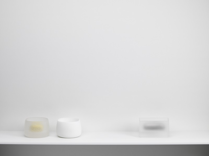 Andrea Walsh, 'Collection of Contained Boxes - Clear Frit, White and Clear', 2018. © the artist. Photography by Shannon Tofts.jpg
