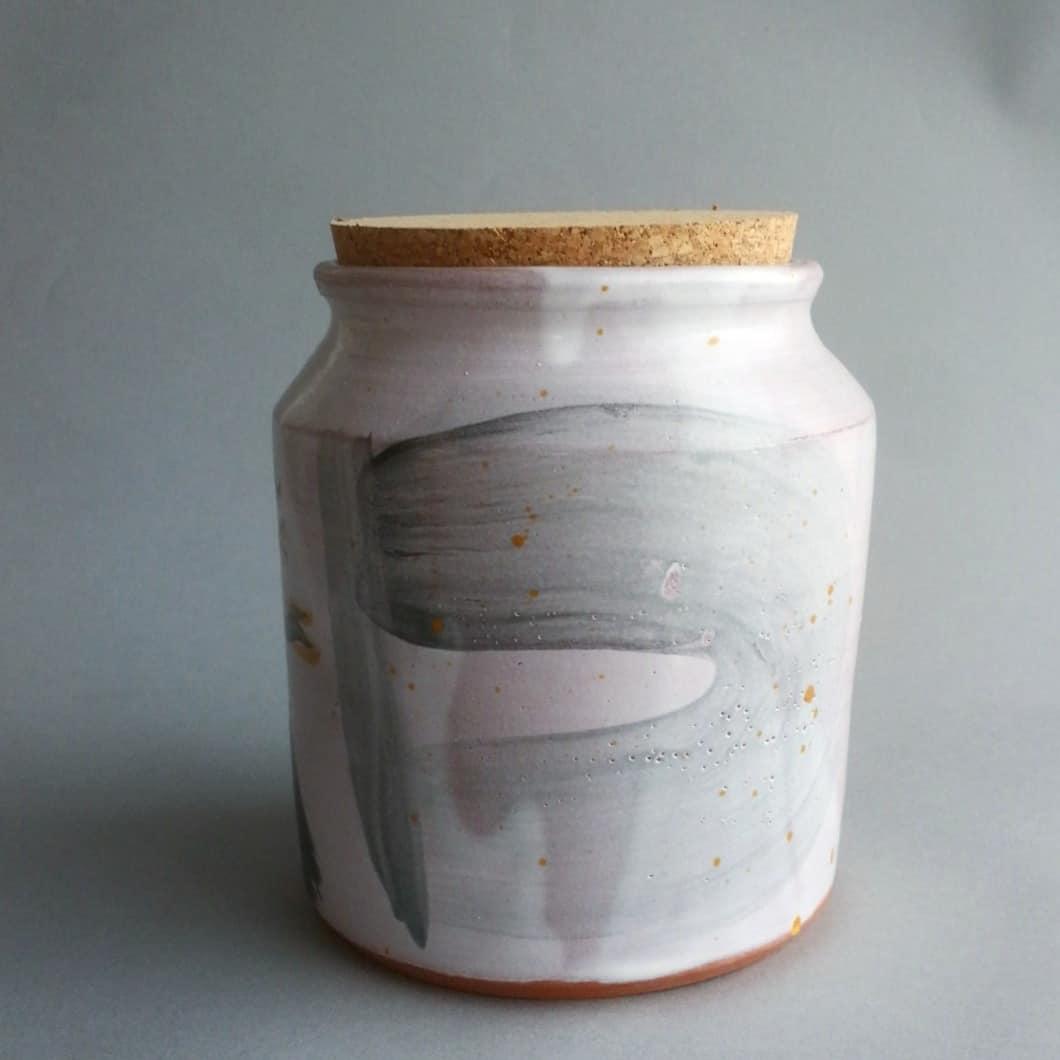 Cork lidded tea jar