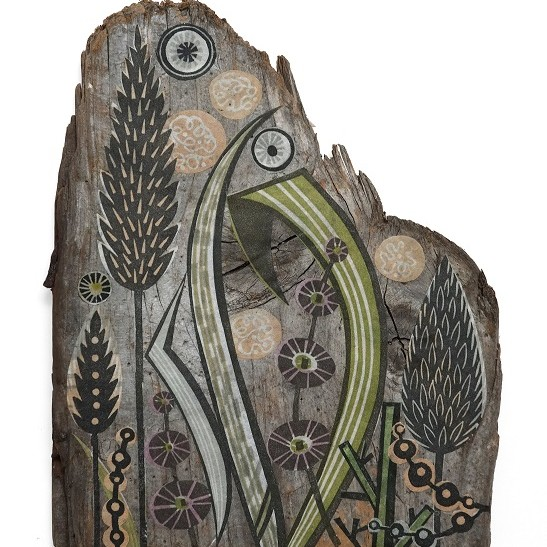 Angie Lewin: Clifftop Grasses