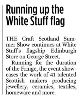 Edinburgh Evening News: Running up the White Stuff flag