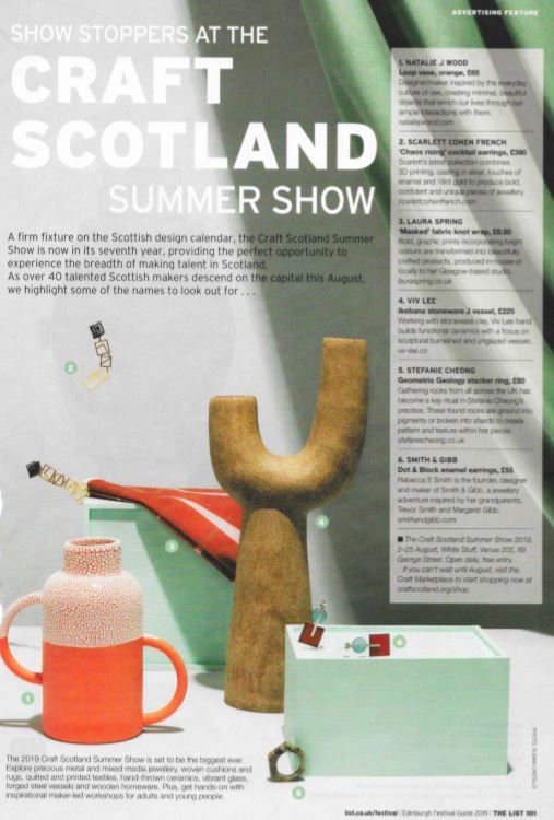 The List: Show Stoppers at the Craft Scotland Summer Show