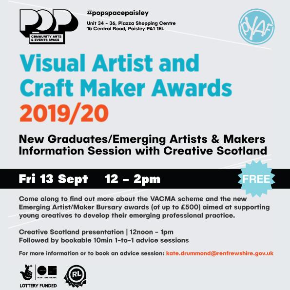 Renfrewshire Visual Artist and Craft Maker Awards Image #0