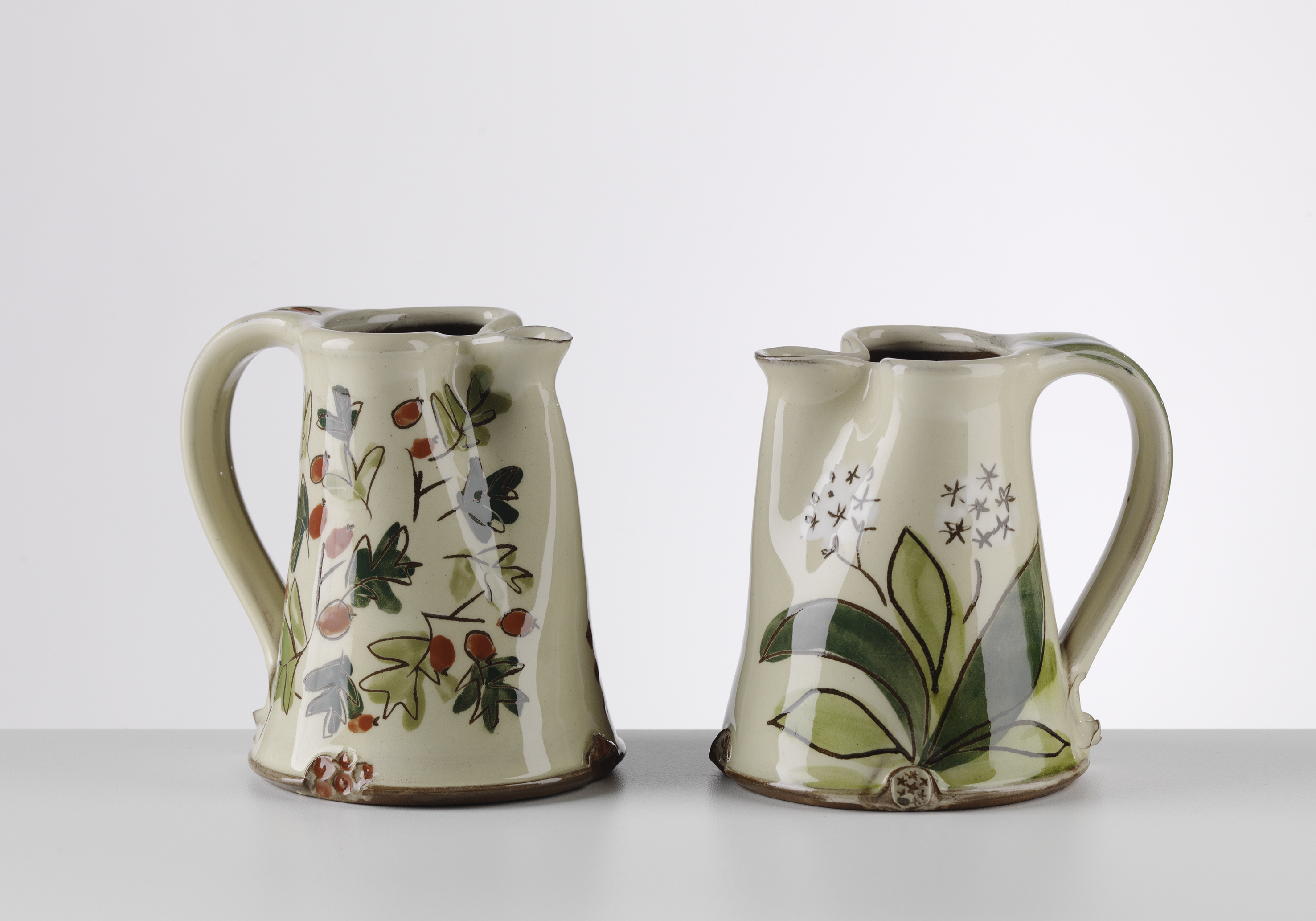Small jugs, hawthorn and ramsons