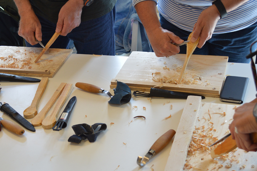 Spoon carving workshop with Craft Scotland and Object Company 2017